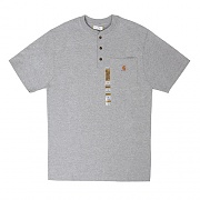(K84) M WORKWEAR POCKET SS HENLEY-HGY