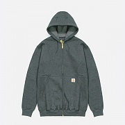 (K122) MIDWEIGHT HOODED ZIP-CARBON