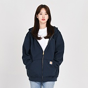 (K122) MIDWEIGHT HOODED ZIP-NVY