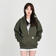 (K122) MIDWEIGHT HOODED ZIP-OLV