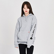 (k288) MIDWEIGHT SLEEVE LOGO HOODED-HGY