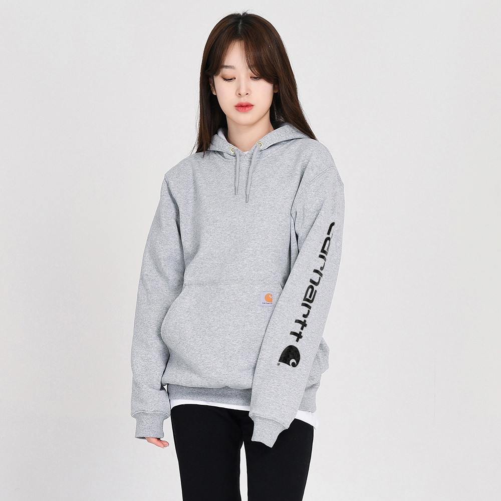 (K288) MIDWEIGHT HD LOGO SLEEVE SWTST-HGY
