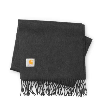 (I013507) CLAN SCARF-DARK GREY HEATHER
