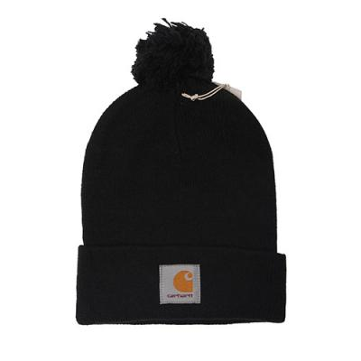 (I006792)WIP BOBBLE WATCH HAT-BLK