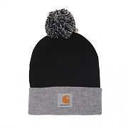 (I015636)WIP BRITT BEANIE-BLK(GREY HEATHER)