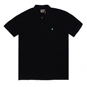 (I016466)WIP S/S SLIM FIT POLO-BLK