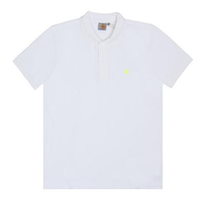 (I016466) S/S SLIM FIT POLO-WHT