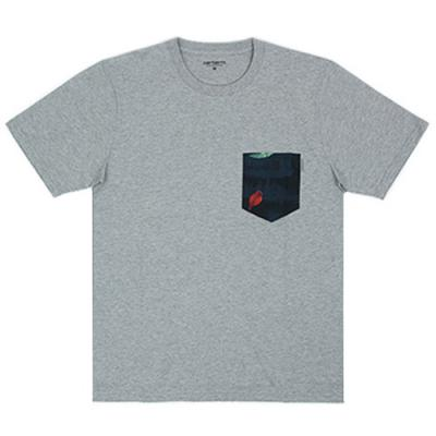 (I017127) LESTER POCKET T-SHIRT-GREY HEATHER
