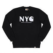 (I020300)NEW YORK CITY SWEATSHIRT-BLACK / WHITE