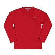 JERSEY LONG SLEEVE TEE-CRIMSON