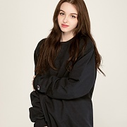 (S600) DOUBLE DRY ECO FLEECE CREW-BLACK