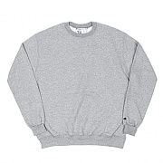 (S600) DOUBLE DRY ECO FLEECE CREW-LIGHT STEEL GRY