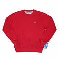 ECO FLEECE CREW-CRIMSON