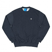 ECO FLEECE CREW-NAVY HEATHER