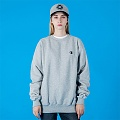 ECO FLEECE CREW-O.GRAY