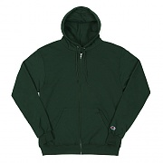 DOUBLE DRY ECO FLEECE FULL ZIP HOOD-DARK GREEN