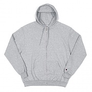 DOUBLE DRY ECO FLEECE FULL ZIP HOOD-LIGHT STEEL GRY