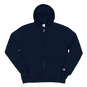 DOUBLE DRY ECO FLEECE FULL ZIP HOOD-NAVY