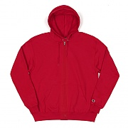 DOUBLE DRY ECO FLEECE FULL ZIP HOOD-SCARLET