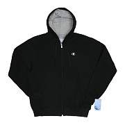 ECO FLEECE FULL ZIP-BLK