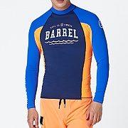 SWELL MEN RASHGUARD V3-BLUE-NAVY-PEACH