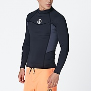 CIRCLE RASHGUARD-BLACK-GREY