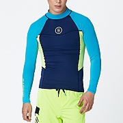 CIRCLE RASHGUARD-BLUE-N.YELLOW