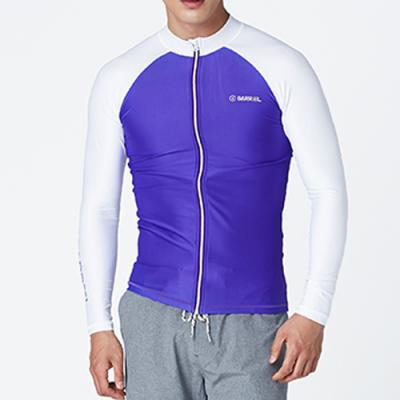 KUA ZIP UP RASHGUARD-PURPLE-WHITE