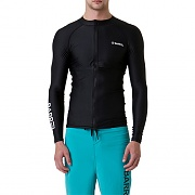 KUA ZIP-UP RASHGUARD-BLACK