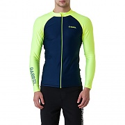 KUA ZIP-UP RASHGUARD-NAVY/N.YELLOW