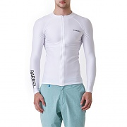 KUA ZIP-UP RASHGUARD-WHITE