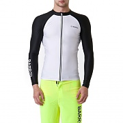 KUA ZIP-UP RASHGUARD-WHITE/BLACK