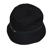 OSTRICH BUCKET HAT-BLACK