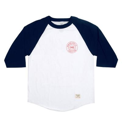 CONFLICT FREE RAGLAN-WHT/NVY