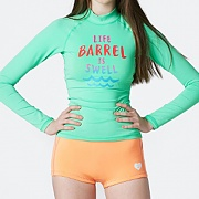 W SWELL RASHGUARD V3-APPLE MINT