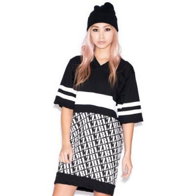 ATHLETIC ATTITUDE JERSEY DRESS-BLACK