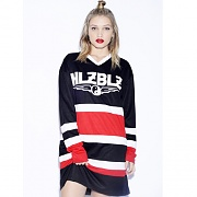 PUCK YOU JERSEY DRESS-BLACK
