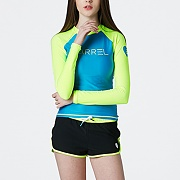 EVE RASHGUARD-AQUA BLUE-N.YELLOW
