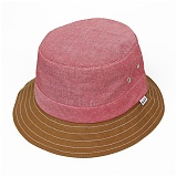 CHAMBRAY FIELD BUCKET-RED
