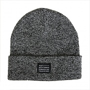 MIXED YARN BEANIE-BLK