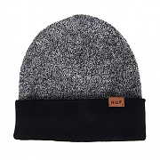 REVERSIBLE MIXED YARN BEANIE-BLK