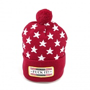 FUCK IT POM POM BEANIE-RED