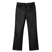WOMAN SEMI BOOTS CUT COATING PANTS-BLACK