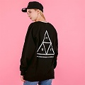 TRIPLE TRIANGLE CREWNECK-BLK
