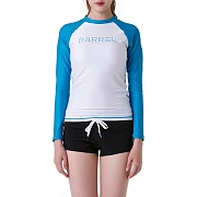 EVE RASHGUARD-WHITE/AQUA BLUE
