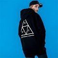 TRIPLE TRIANGLE PULLOVER FLEECE-BLK(wht)