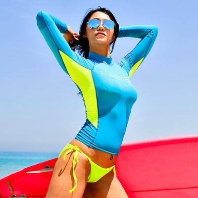 KAREN RASHGUARD-BLUE-N.YELLOW