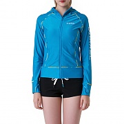 LINDA ZIP-UP HOOD RASHGUARD V1-AQUA BLUE