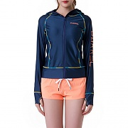 LINDA ZIP-UP HOOD RASHGUARD-NAVY