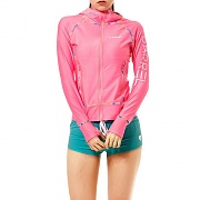 LINDA ZIP-UP HOOD RASHGUARD-PINK